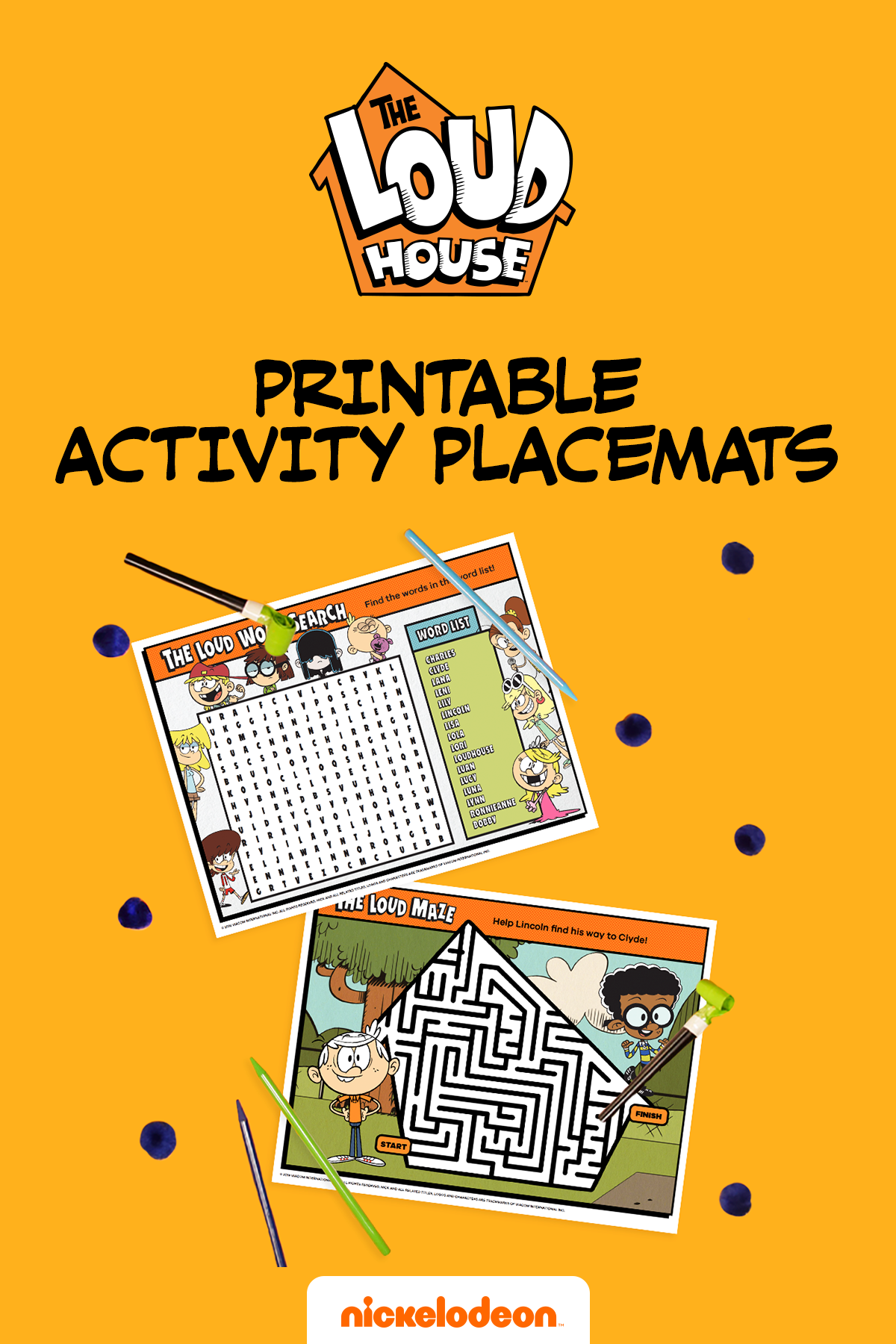Loud House Activity Mats