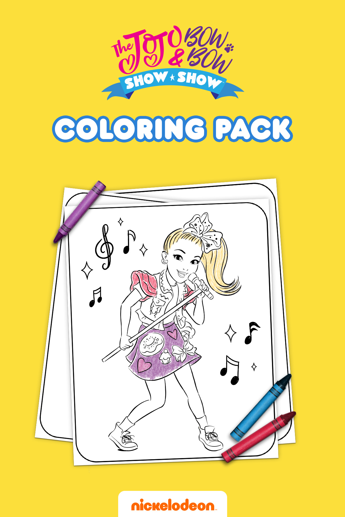 JoJo and BowBow Show Show Coloring Pack