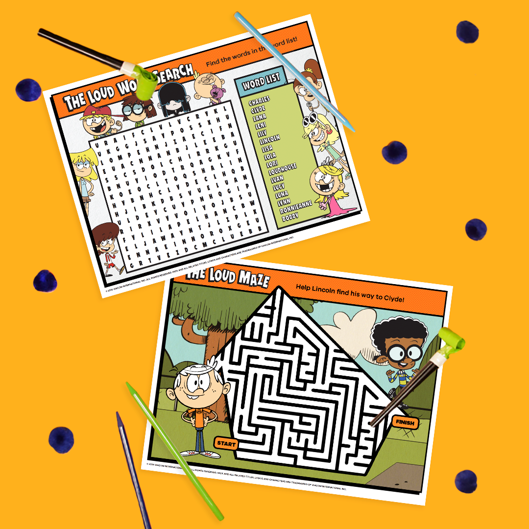 Loud House Printable Placemats