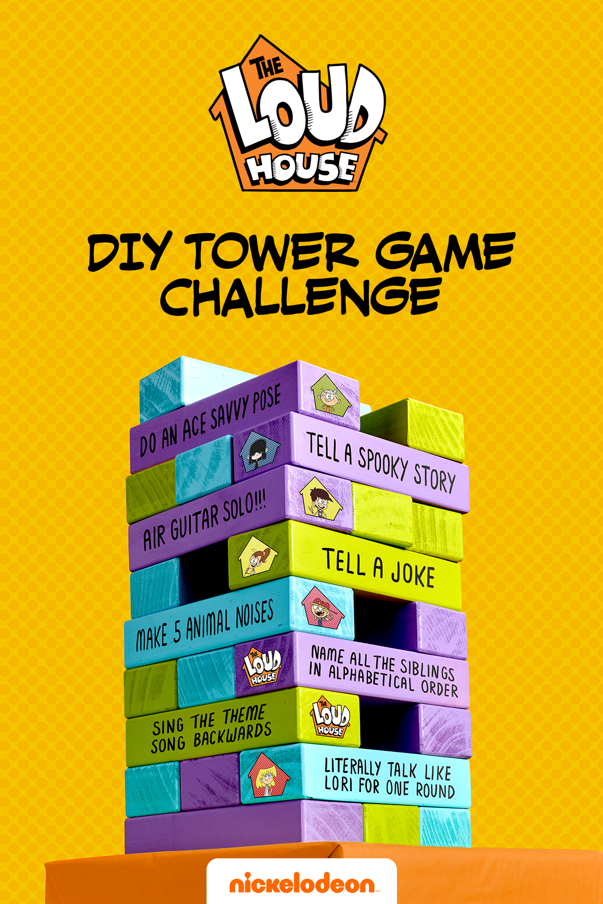 Loud House Jenga Game
