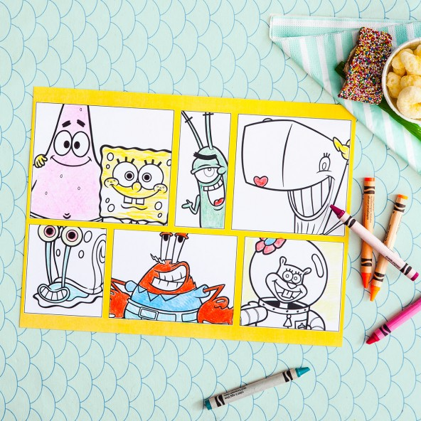Spongebob Party Placemats