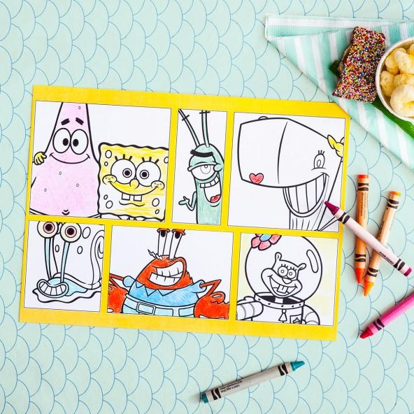 Spongebob Party Placemats