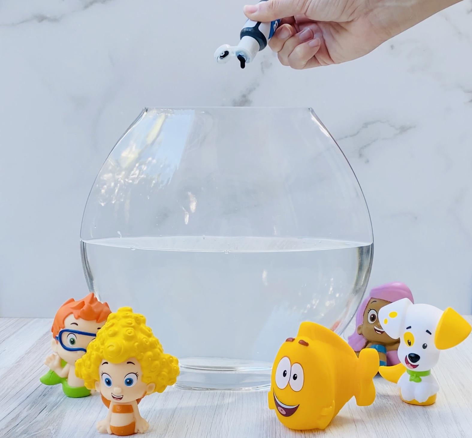 Bubble Guppies DIY Lava Lamp Step 1