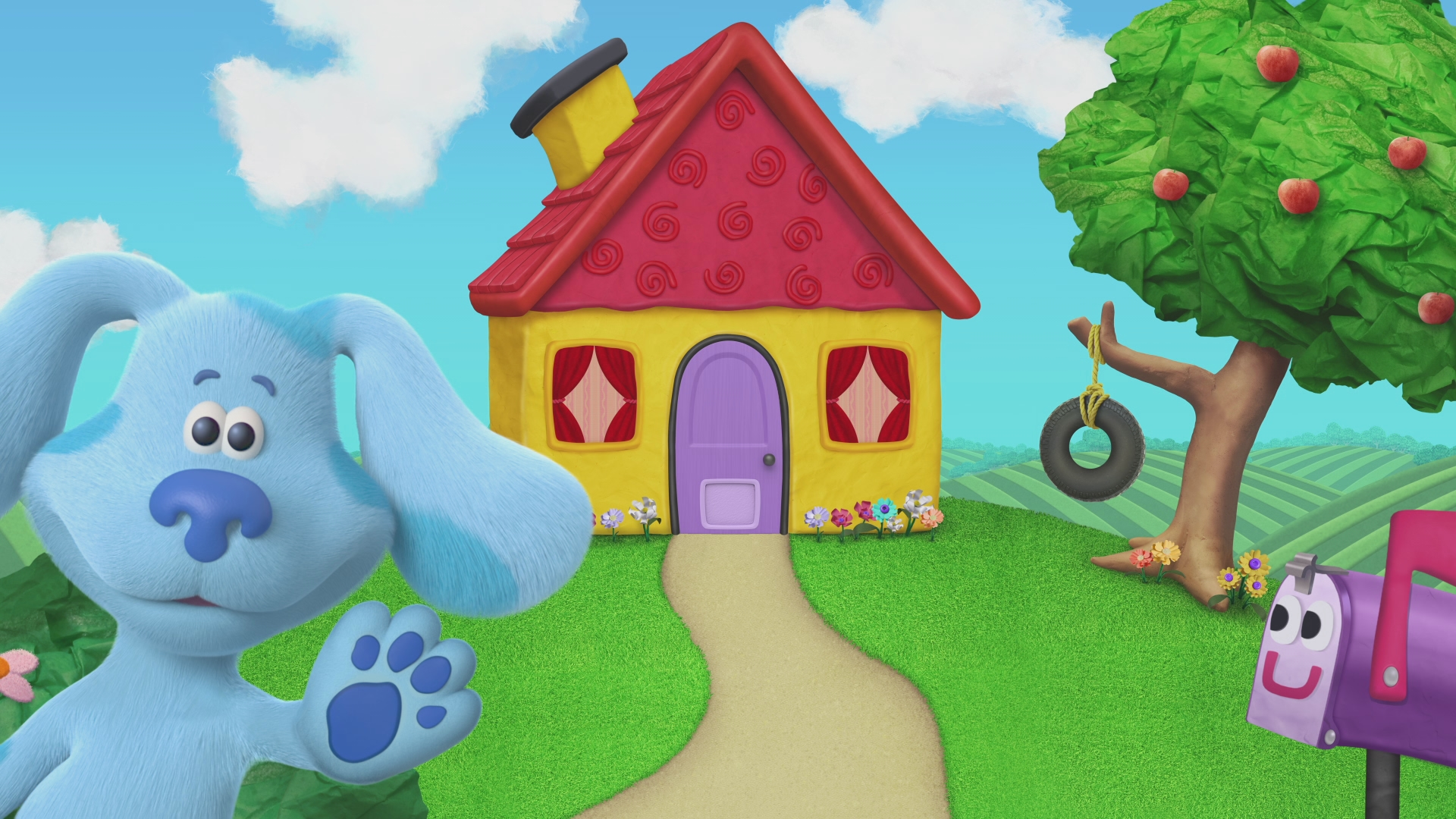 Blue's Clues Zoom Background