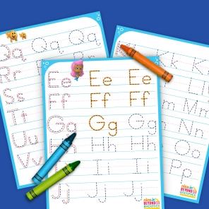 Alphabet Tracing Pages for Little Fins
