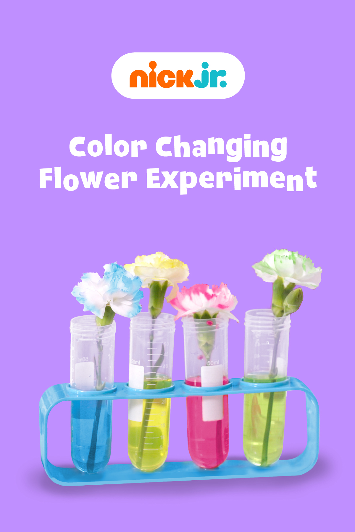 Nick Jr. Coloring Changing Flower Experiment