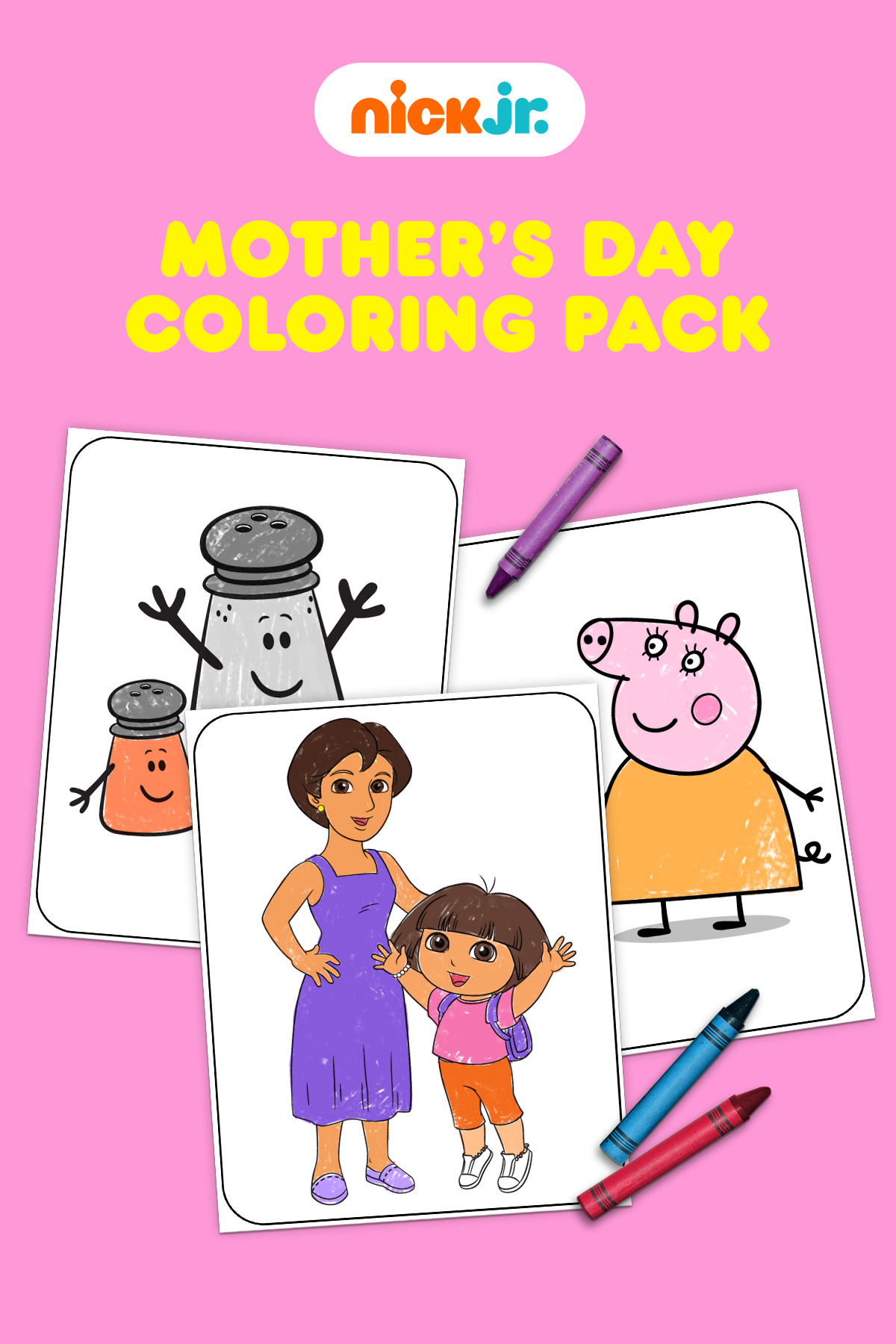 Nick Jr. Mother's Day Coloring Pack