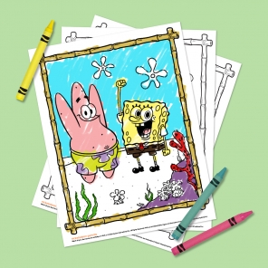 4-Page SpongeBob Coloring Pack