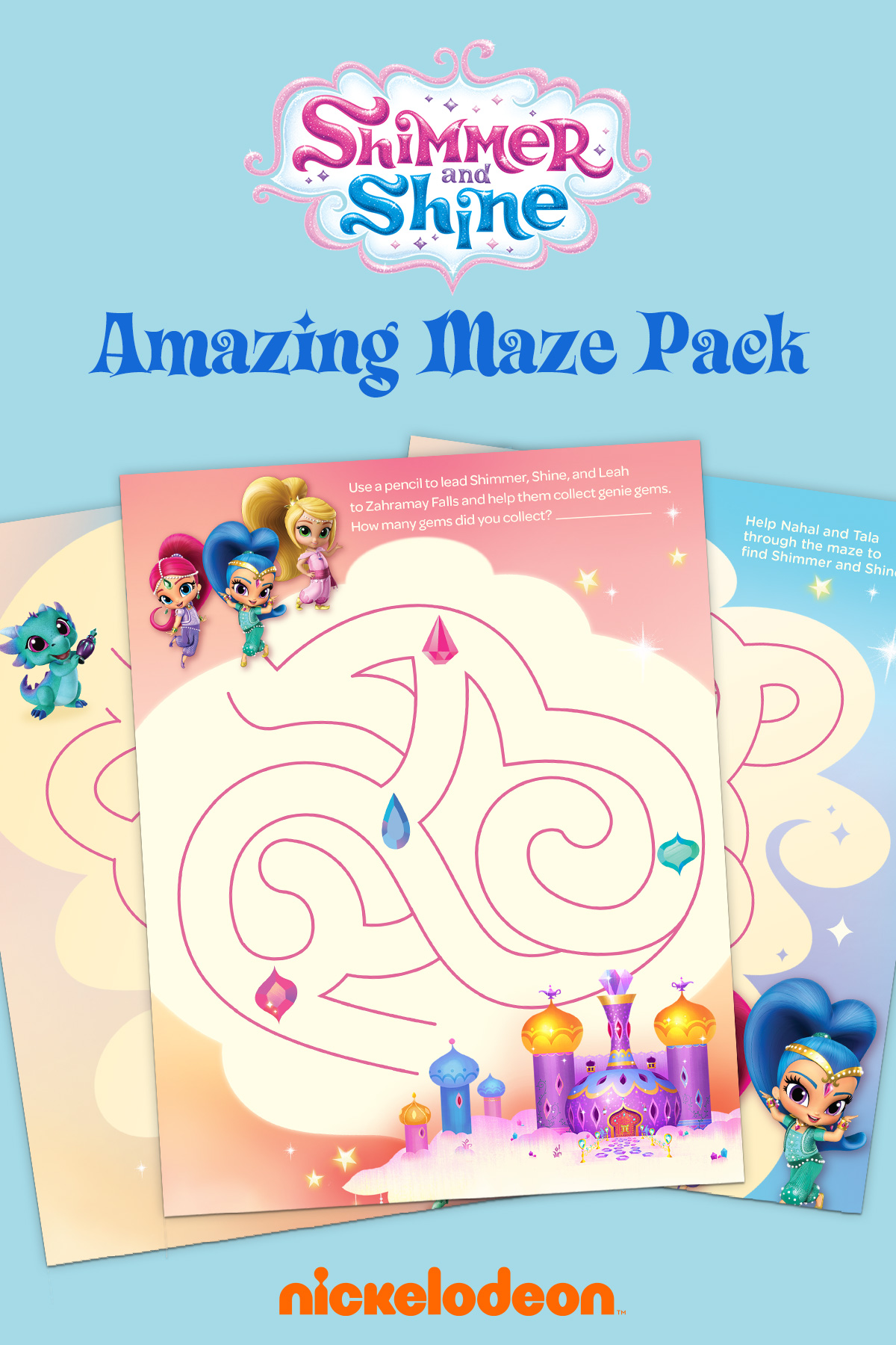 Shimmer and Shine Amazing Maze Pack