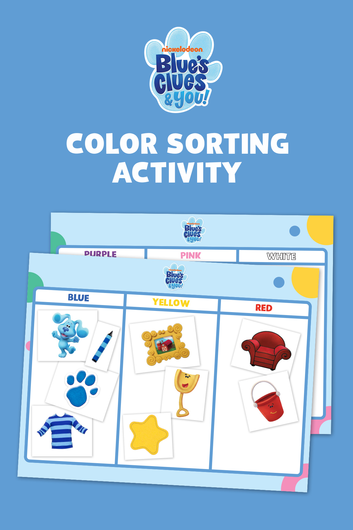 Blue's Clues & You! Color Sorting Activity