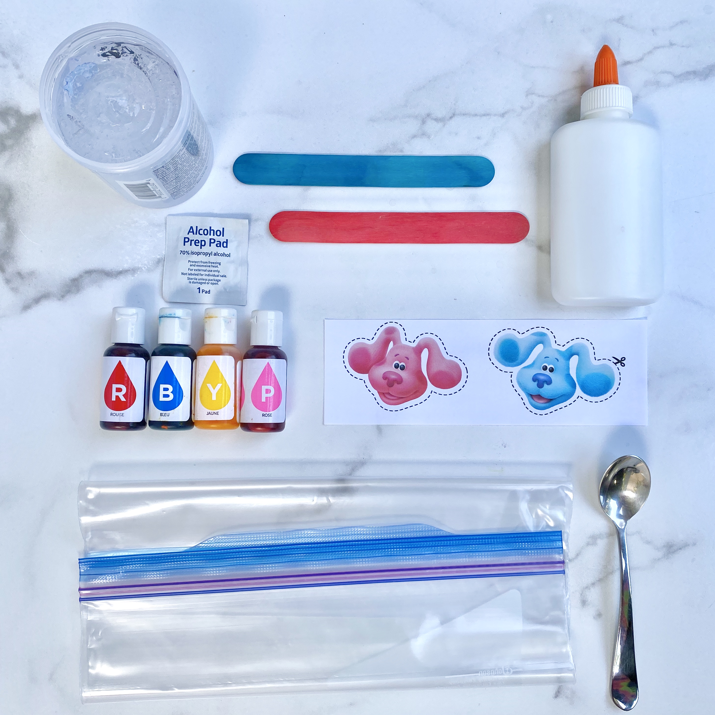 Color Mixing supplies