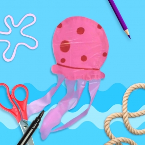 DIY SpongeBob Jellyfish Kite