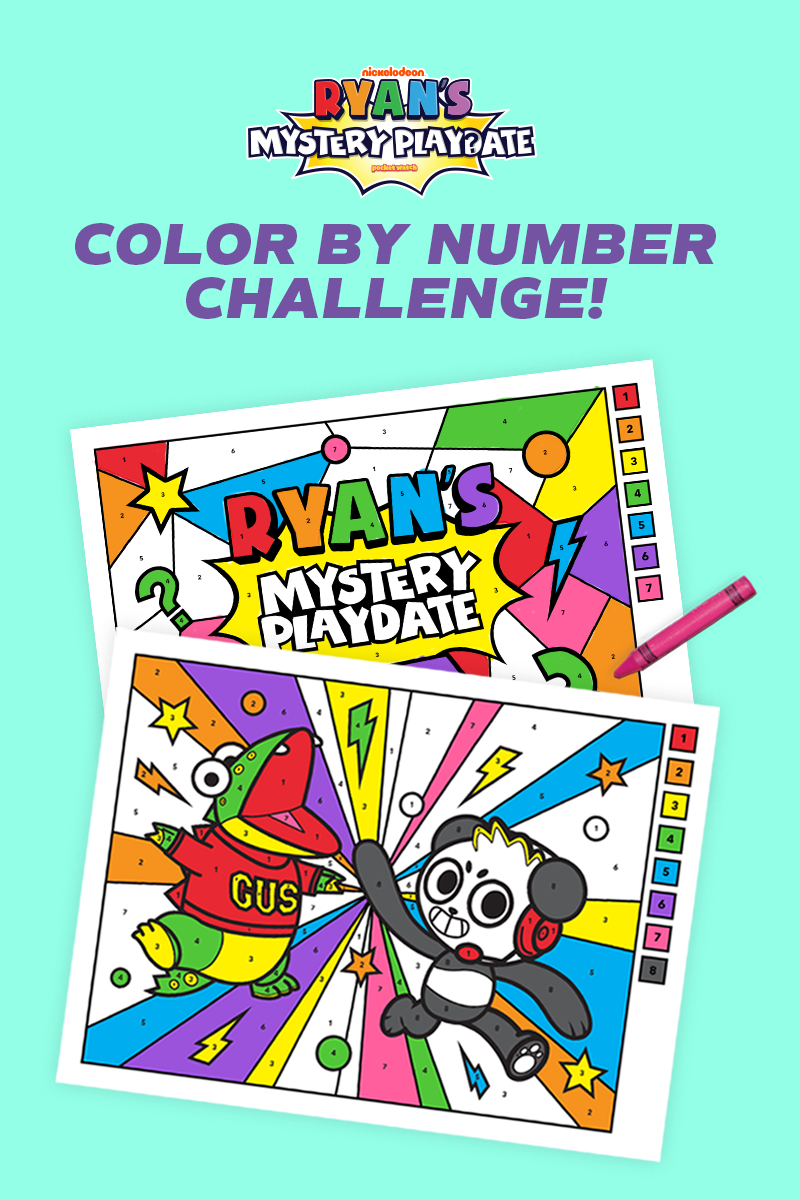 Ryan's Mystery Play Date Color By Number