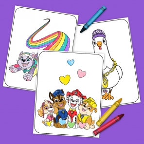 Paw Patrol And Friends Coloring Pack