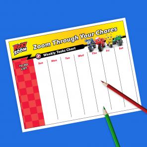 Ricky Zoom Chore Chart