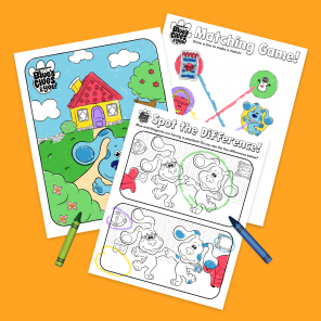 Blue's Clues & You! Activity Sheets