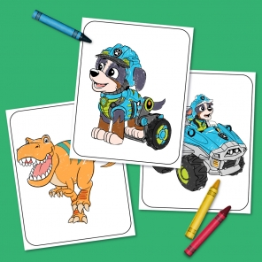Paw Patrol Dino Rescue Coloring Pack