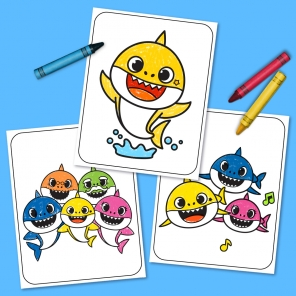Baby Shark Coloring Sheets