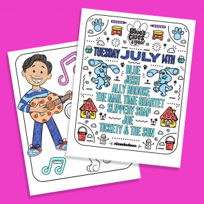 Blue's Clues & You! Music Coloring Sheets