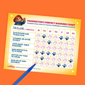 Yes, Please: Paddington's Perfect Manners Sticker Chart