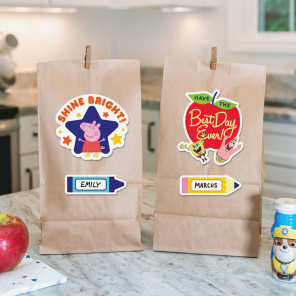 Nickelodeon Printable Lunch Bag Decals