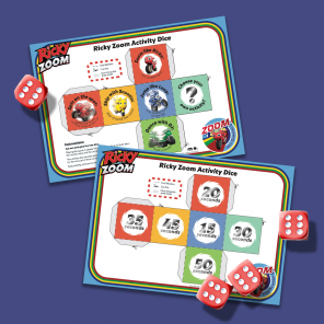 Ricky Zoom Activity Dice Game