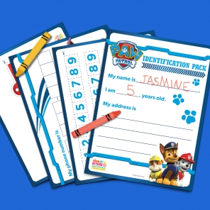 Paw Patrol ID Pack for Preschoolers