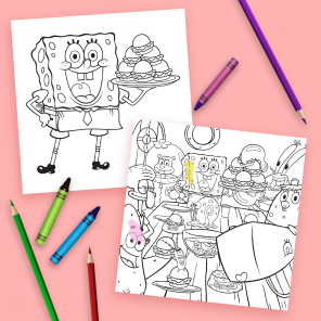 Celebrate Thanksgiving With SpongeBob Coloring Page Placemats