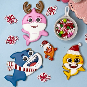 Baby Shark Holiday Cookie Decorating Inspiration