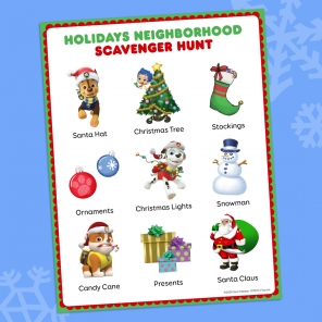 Go on a Holiday Themed Neighborhood Scavenger Hunt
