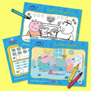 Peppa Pig Hanukkah Activity Pack