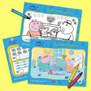 Peppa Pig Hanukkah Activity Pack