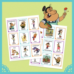 Watch Your Language with The Casagrandes Flash Cards