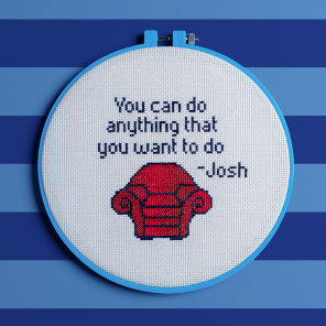 Blue's Clues and You Cozy Cross-Stitch Pattern