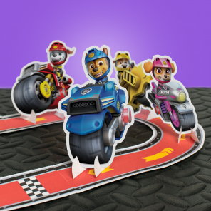 Make Your Own Moto Pups Racetrack