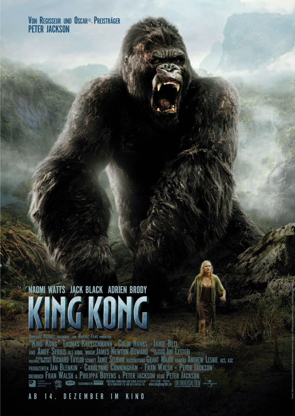 ピーター・ジャクソン監督のキング・コングという映画