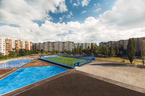 Andriy Shevchenko and Nike Unveil Renovated Football Pitch and Indoor Gym