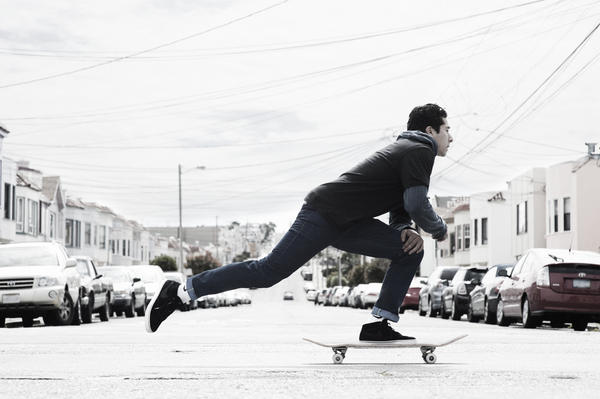 Nike and Levi's 511 skateboarding denim