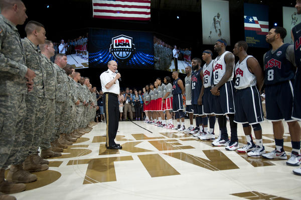 Nike and USAB Host Military Troops and Families at World Basketball Festival