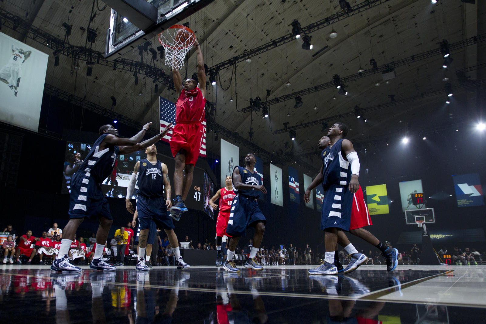 Team new york defeats team los angeles in nike city for New york city to los angeles