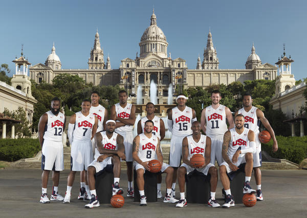 The USA Men's Basketball Team In Barcelona For Nike World Basketball Festival 2012