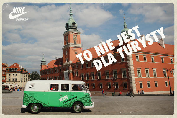 Nike Sportswear celebrates Warsaw's running culture with #NOTFORTOURISTS campaign