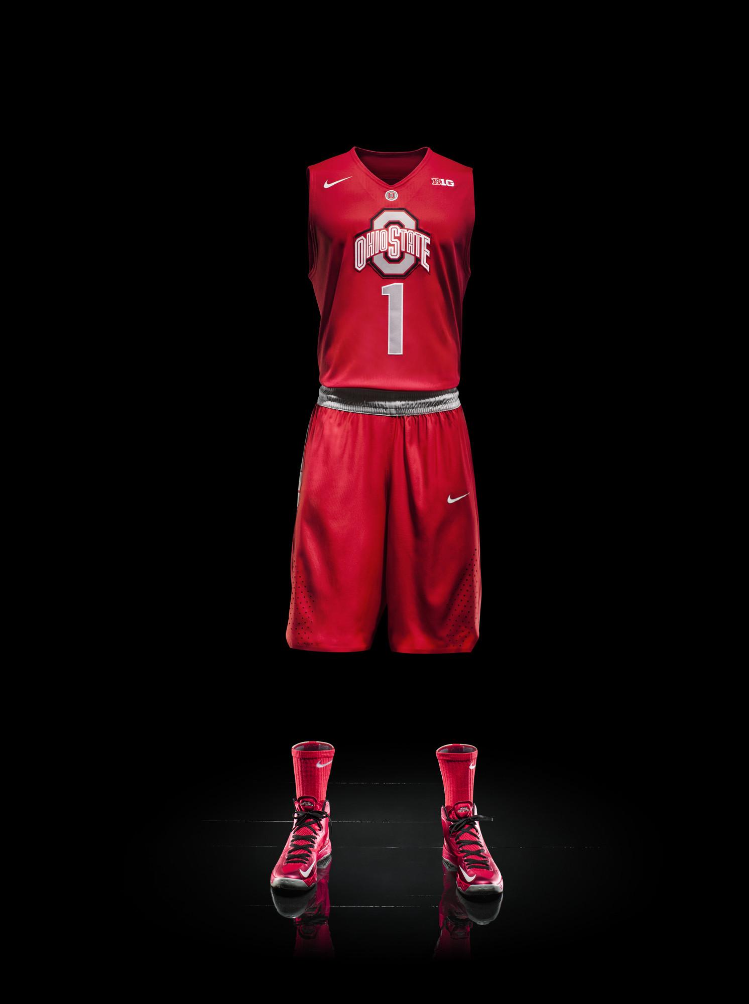 Nike college basketball uniforms