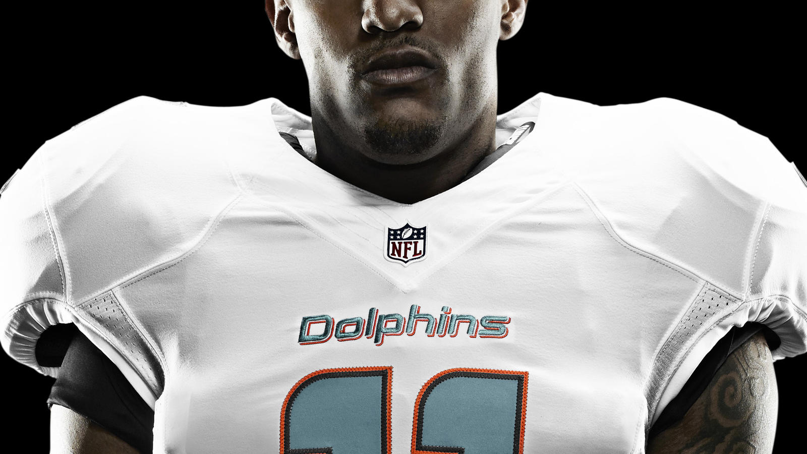 NFL Jersey's Women's Miami Dolphins Mike Wallace Nike White Game Jersey