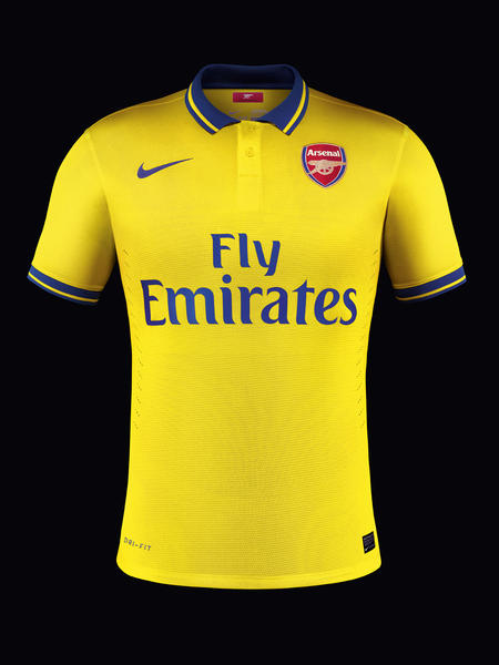 Nike unveil new Arsenal away kit for season 2013-14