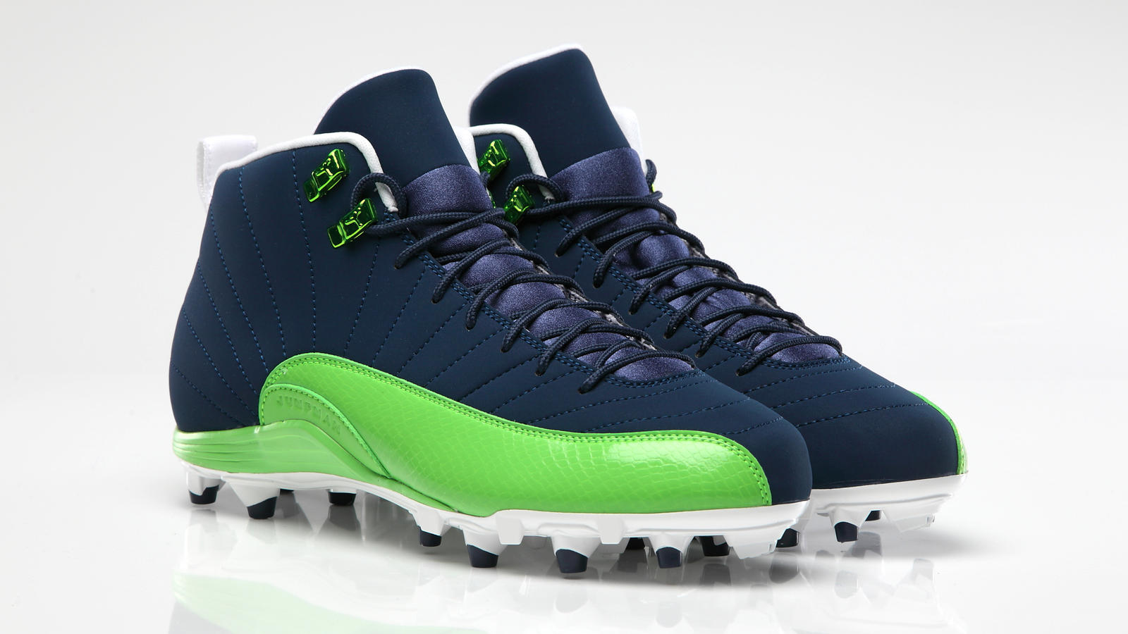 green metal cleats air force shoes