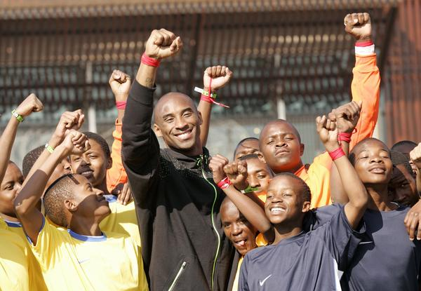 Kobe Bryant Visits Soweto Football Training Facility