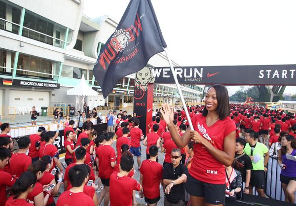 Track and Field Champion Allyson Felix Inspires Runners at We Run Singapore 2013