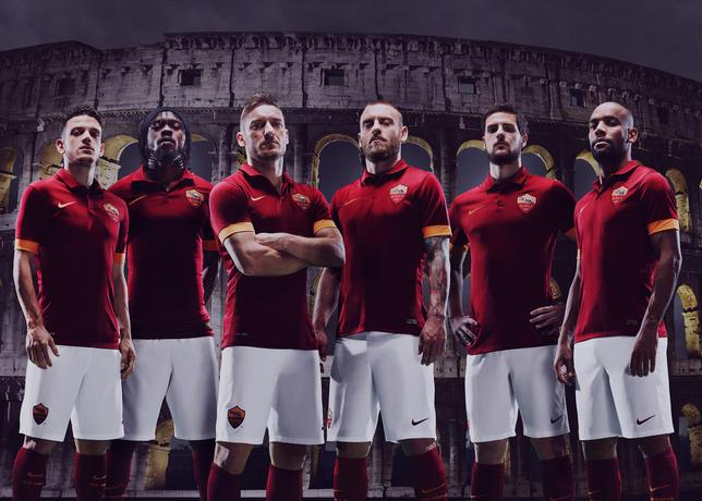 Liga Italia  - Ini Dia Jersey Kandang Terbaru AS Roma Musim 2014/2015