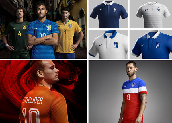 Five Teams Wearing Nike Kits Advance in Brasil